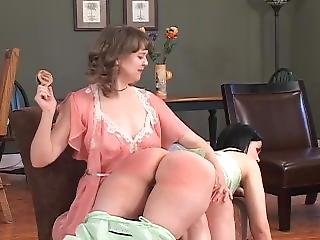 Smart Mouth Girl Gets Spanked Otk By Step-mom