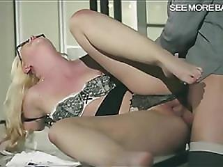 Stunning Babe Samantha Rone In Glasses Gets Pussy Ripped