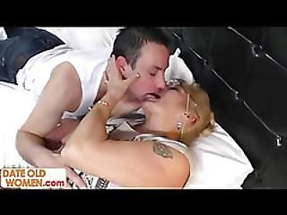 Old Grandmother Blonde Pussy Hair