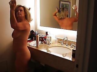 Hot Milf Naked In Bathroom