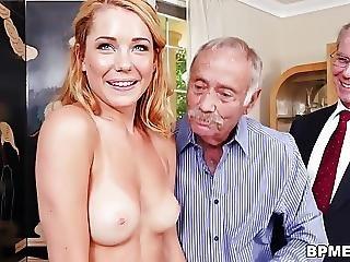 Alex Harper Gets Gangbaged By Old Men