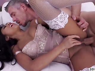 Sexy Cute Asian Ember Snow Gets Her Tight Pussy And Ass Destroyed
