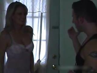Chubby mom seduced and fucked by son