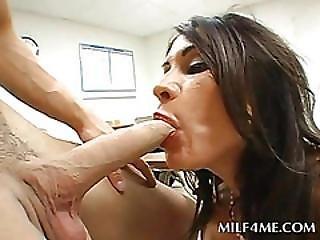 Stockinged Milf Sucking Teen Dicks In Orgy