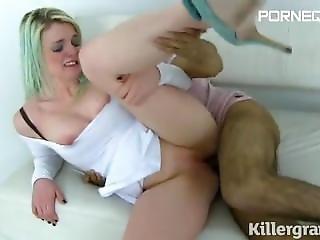 Imwf Uk Blonde Takes Indian Cock