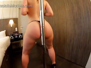Fat Ass Shaking On A Pole