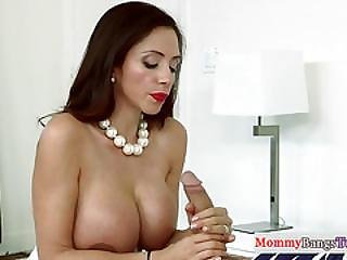 Classy Corset Milf Licking Teens Pussy