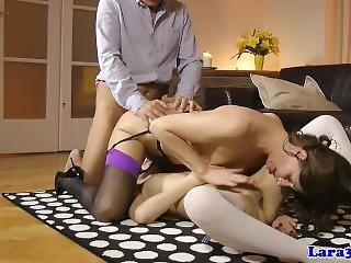 British Mature Doggystyled While Pussylicking