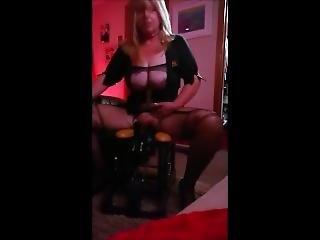 Sexy Milf Wife Rides Her Dildo Monkey Rocker