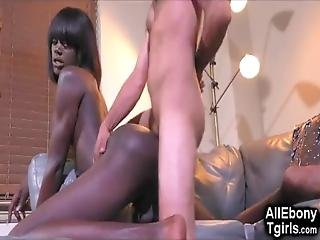 Tall And Skinny Athletic Young Black Tgirl With An Amazing Booty Gets Fucked Hard And Takes Big A Cumshot On Her Perfect Butt In This Steamy Interracial Sex Scene!