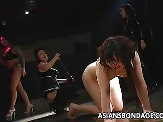 Lovely Asian Slavegirl Tied Up And Whipped