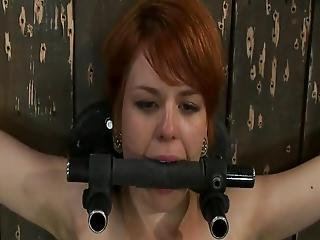 Red Head Beauty Juliette March Forced To Peak Constrained And Toyed
