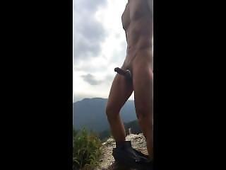 amatorski, piękność, japonka, masturbacja, góry, publicznie