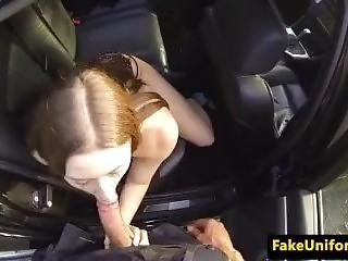 British Babe Cocksucking English Cop