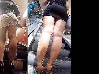 Candid Legs And Asses In Mini Skirts Mix