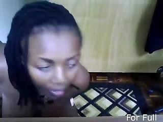 African Solo Webcam Show In Office