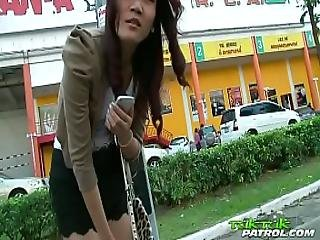 Shy Thai Chick Gets Slammed With Big White Cock