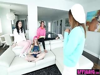 Angry Daddy Fucked The Nervous Petite Teen Babysitters