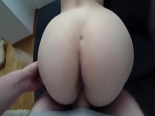 Student With Big Ass Fucks Through The Green Panties