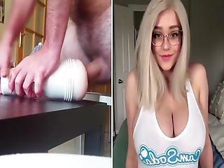 Fucking My Fleshlight Over Big Boob Blonde Teen