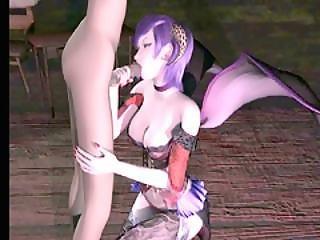 3d Anime Beauty Sucking Stiff Dick