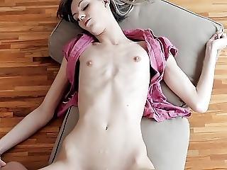Skinny Flat Chest Cindy Cumilation