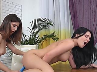 Lucia And Camilla Enjoy Using Dildo For Pleasure