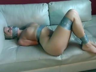 Blonde Wrapped Gag