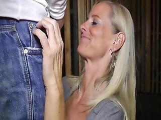 Teen Boy With Big Cock Fucked Hard His Neighbor Mature Milf