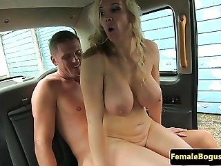 Female Cabbie Fucks Client And Blows Client