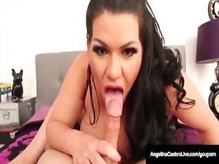 Huge Boobed Latina Angelina Castro Strokes Sucks A Cock