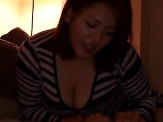 Cheating Busty Asian Fucks Lover While Her Husband Sleeps