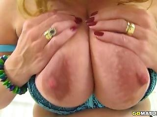 British Big Breasted Lily May Fingering Herself