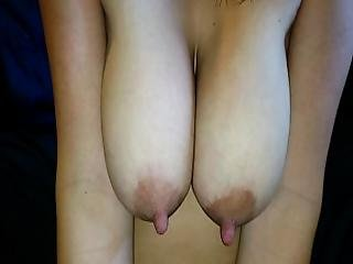 Comment Celebrate And Tribute These Massive Tits And Long Nipples Pass Her Around And Cum All Over Her