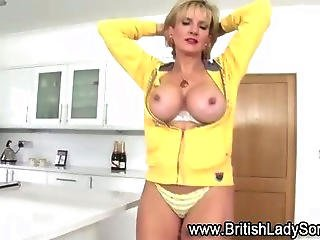 Silly Dancing Mature Slut Looks Stupid In Front Of A Mirror