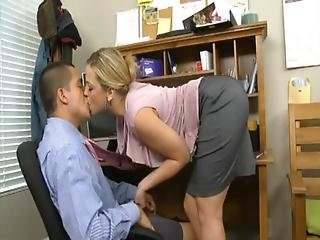 Ass, Blonde, Blowjob, Dirty, Natural, Office, Sex