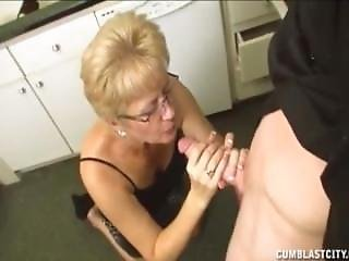Short Haired Grandma Gets A Facial