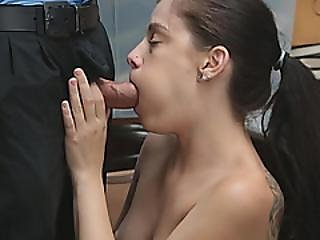 Security Guard Fucks Raven-haired Cutie Bobbi Dylan In Storage Room