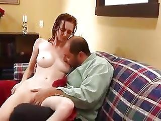 Skinny Busty Teen Fucks Not Daddy