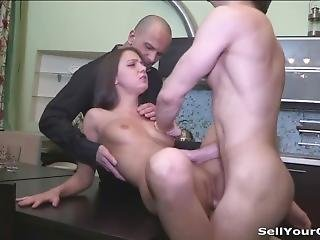 Sell Your Gf - Foxy Di - Staying Home For Her First Paid Fuck