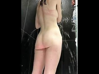 Brunette Caught In Shower And Pissing Hidden Spy Camera Lw