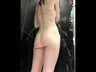 Brunette Caught In Shower And Pissing Hidden Spy Camera Lw
