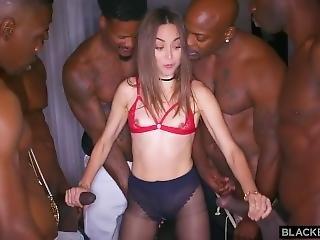 anal, bonasse, brunette, double pénétration, gangbang, fête, pénetration
