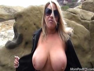 Huge Natural Boobs Milf Public Flashing And Then Fucks