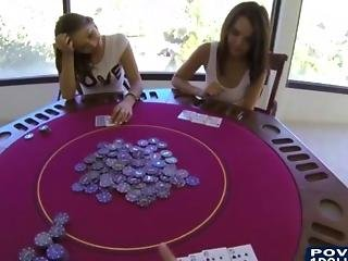 Teens Play Poker Turns Awesome Threesome