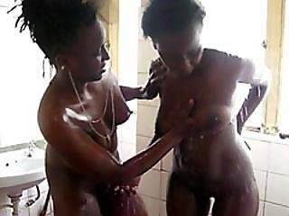 Adorable African Lesbian Gets Tight Pussy Fingered And Toyed
