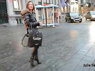 Moncler Slut Walking In Town