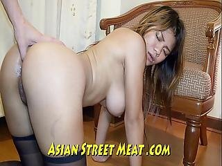 Pulsating Anus And Whopping Wobbly Asian Breasts