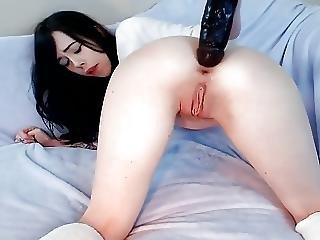 Teen Anal Gaping With Huge Toy