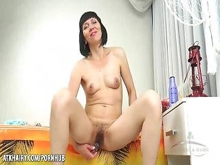 Mash%3A Mature And Super Hairy Pussy With A Toy